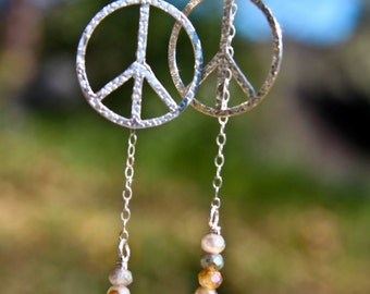 Laboradite Sterling Earrings Bohemian wedding Gift For Her Handmade Interchangeable Hippie Small Giftables Bridal Party Gift Under 50