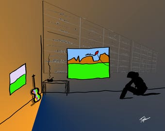"""Limited Edition Print.  """" Toys In My Attic #7 """" Digital painting, Wall art, Painting. Art print"""