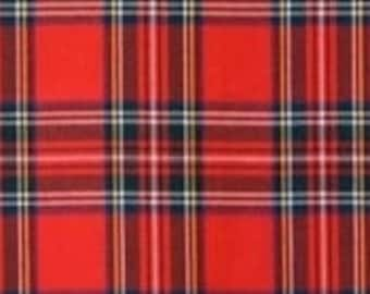 "Winterfleece Stewart Plaid Red Fabric from Winham, Fleece Fabric, Winterfleece Fabric, Plaid FleeceFabric, RedFabric, 100%Polyester, 58""/60"""