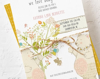 Baby Shower Invitations - We Love Baby to Bee (Style 13707)