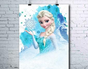Elsa - Frozen - Frozen Birthday - Frozen Print - Frozen Poster - Disney - Elsa Print - Elsa Poster - Frozen Printables - Frozen Art