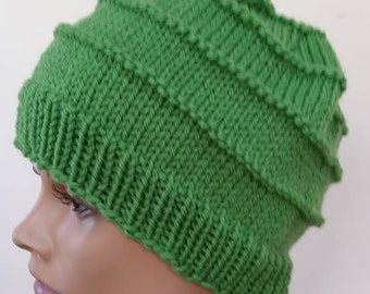 Spring Green Hat - Irish Green Hat - Kelly Green Hat - Teen Beanie - Gifts for Her - Gifts for Teens - Knit Beanie - Green Beanie