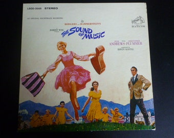 The Sound Of Music Original Soundtrack Rodgers and Hammerstein Vinyl Record LP LSOD-2005 1st Pressing /With Booklet RCA Victor Records 1965