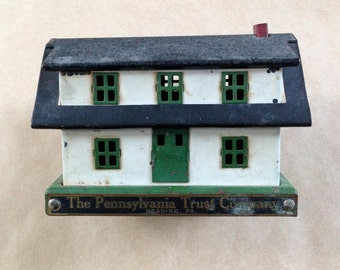 Metal House Bank Toy