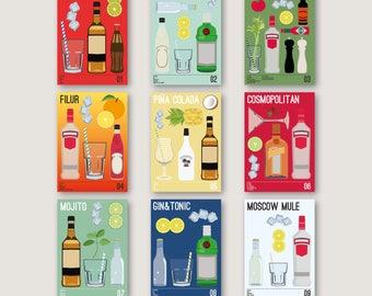 Drinks print no. 1 - 9 samlet pakke