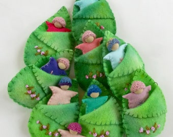 Grab bag leaf baby set Waldorf inspired ready to ship