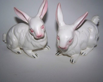 NAPCOWARE Rabbit Figurines Japan Rabbits Napcoware Bunnies White Rabbits Easter Bunny