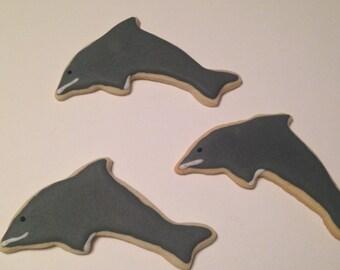 Dolphin Sugar Cookies