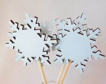 Winter Lawn Decor - Snowflake Lawn Art - Home and Living - Winter Wedding - Set of 4
