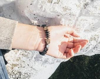 ONYX 201 Hematite and Pyrite Bracelet