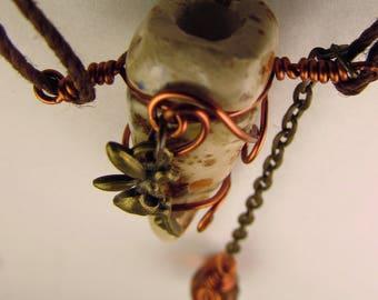 Oil Diffuser Necklace  Hand Sculpted OoAK  (AF)