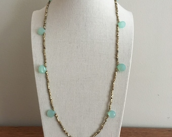 Hematite and Stone simplified necklace