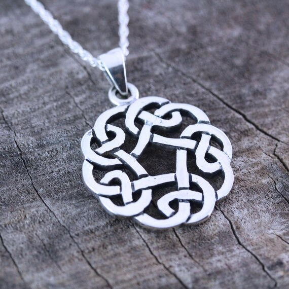 Celtic Knot Friendship Necklace Sterling Silver Celtic Knot