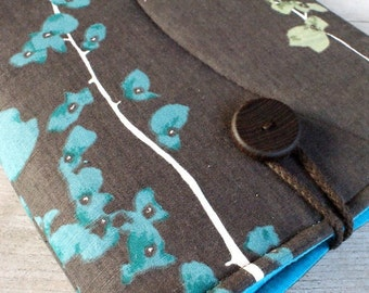 Laptop sleeve for 13 inch Mcbook/ cotton/ wooden button