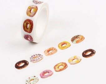 Donuts All Day, Washi Tape, Sample Lengths