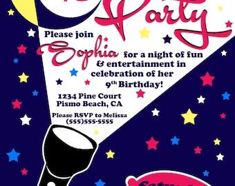 Slumber Party Birthday Invitation, Birthday Invitation, Girl Birthday, Sleep Over Invite, Personalized Invitation, Custom Invite