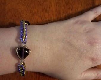 Half Persian Beaded Chainmail Bracelet