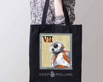 BB-8 Tote Bag-Keep Rolling Tote bag-Star Wars Force Awakens Bag-  Free Shipping Worldwide