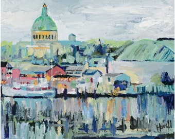 View of the Naval Academy, 11 x 14 Signed Large Print of Original Acrylic Painting