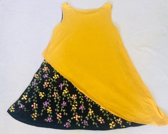 Yellow painted dress
