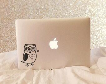 Owl, Laptop Stickers, Laptop Decal, Macbook Decal, Car Decal, Vinyl Decal