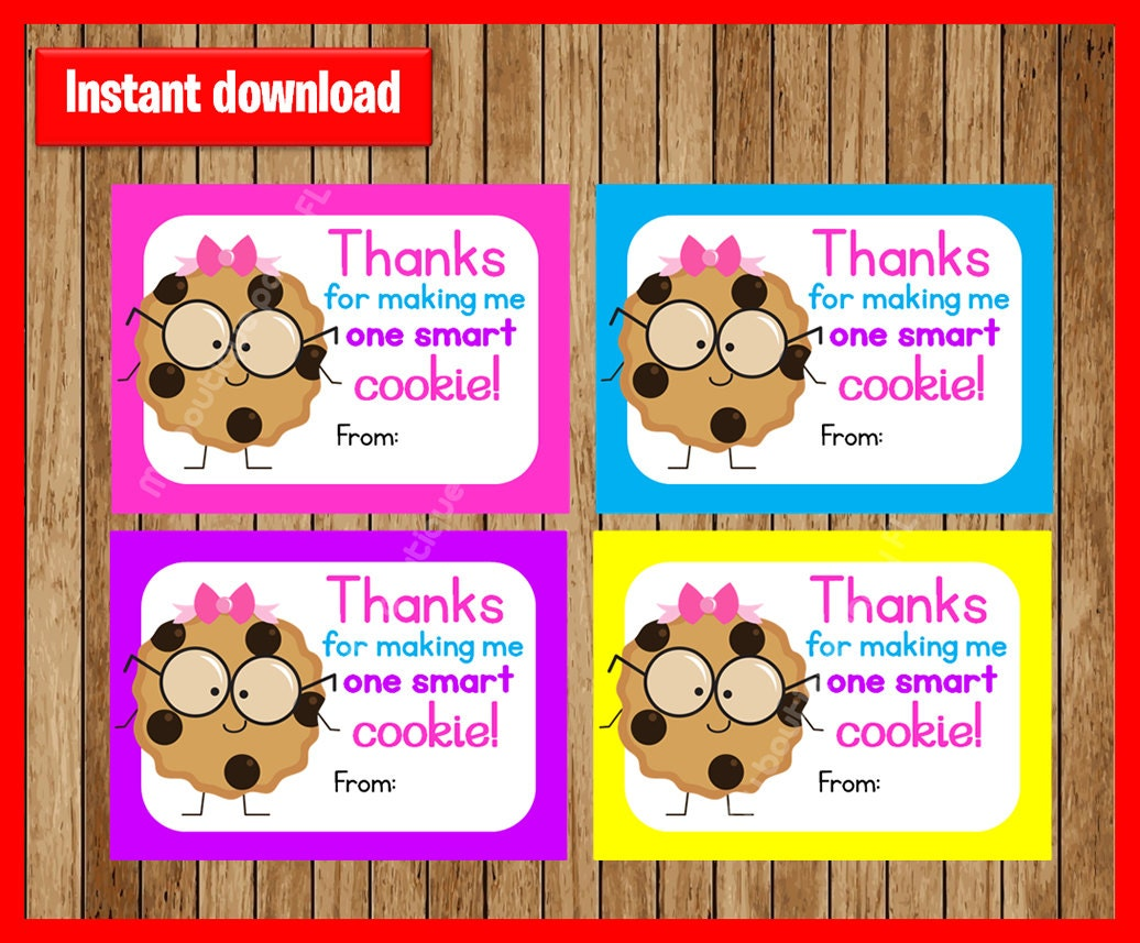 It is a picture of Stupendous One Smart Cookie Printable