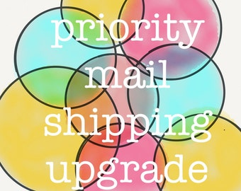 priority mail shipping upgrade - add to an order to make it magically appear faster at your home