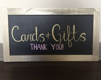 Custom Chalkboard- Cards and Gift Sign