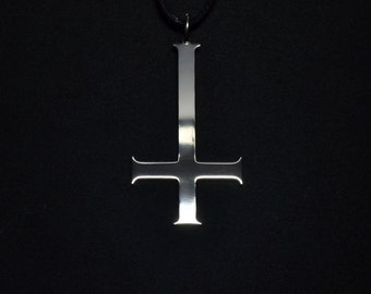 Inverted Cross Pendant Necklace Logo Symbol Satan