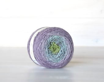 Hand Dyed Gradient Yarn - 100% Wool - Color: Pixie Ombre - 1Ply Sport Yarn - Colorful Soft Yarns by Freia - Gorgeous Pastel Yarn - Wool Yarn