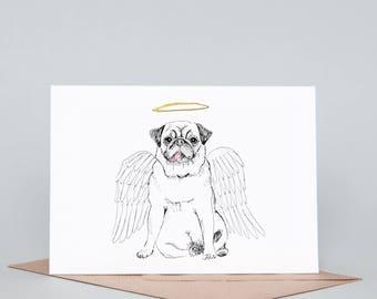 Angel Pug Card