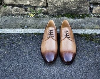 Mr. Angus - hand dyed ginger with burnt toe and heel finish