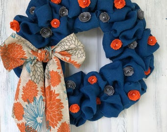 Fall Inspired Burlap Wreath
