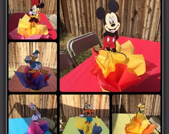 Mickey Mouse Clubhouse Centerpieces, Mickey mouse and friends centerpieces, mickey mouse party, disney character centerpicces