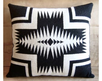 Southwestern Pillow • Southwest Decor • Tribal Pillow • Western Decor • Bohemian Pillow • Boho Decor • Tribal Arrows • Walking Rock Black