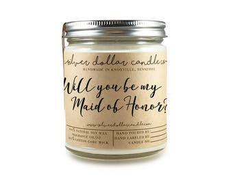 Maid of Honor Proposal Gift | Will you be my Maid of Honor gift, Maid of Honor Candle, Maid of Honor ideas, soy candle, Maid of Honor,custom
