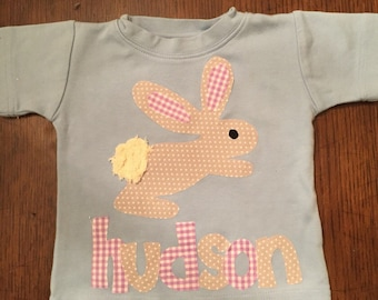 Personalized Easter Bunny Shirt- You choose shirt color and sleeve length