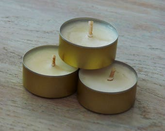 """Handcrafted natural """"tealight candles"""""""