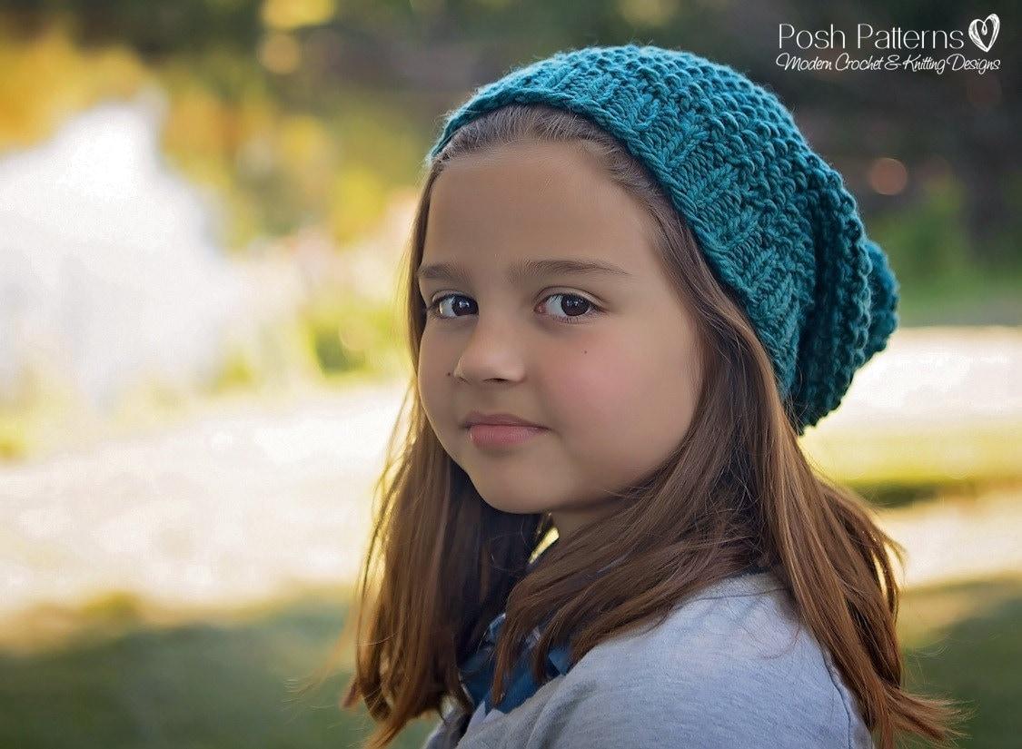 Knitting Pattern - Slouchy Hat Pattern - Knit Hat Pattern - Easy Hat ...