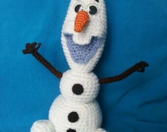 olaf, crocheted toy, snowman, Frozen