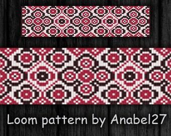 Bead loom pattern - Square stitch pattern -  ethnic bracelet pattern  - beaded pattern #53