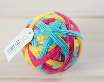 SHERBET FIZZ - vibrant hand dyed self striping sock yarn