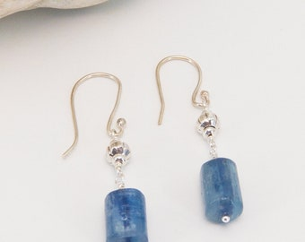 Kyanite and Sterling Silver Earrings