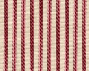 Ticking - Red Stripe - 1/2yd
