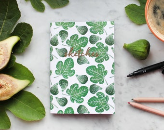 A6 Sketchbook / Notebook: Figs Design with 40 pages 120gsm
