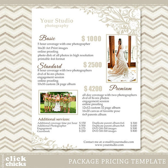 photography package pricing list template wedding packages. Black Bedroom Furniture Sets. Home Design Ideas