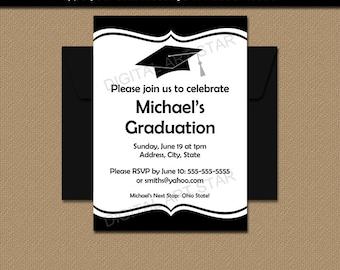 Graduation Party Invitation Template College Graduation Invitation Printable EDITABLE High School Graduation Party Idea Instant Download G1