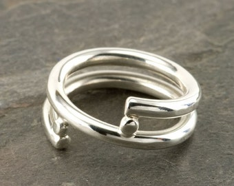 Simple Wrap around Ring in Sterling Silver