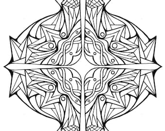 Coloring Page (Cross)