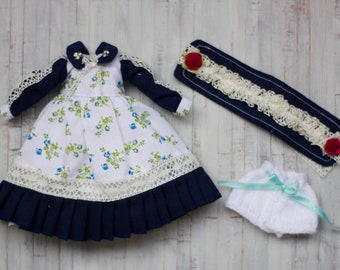 Ooak outfit for Blythe. Unique design for Blythe
